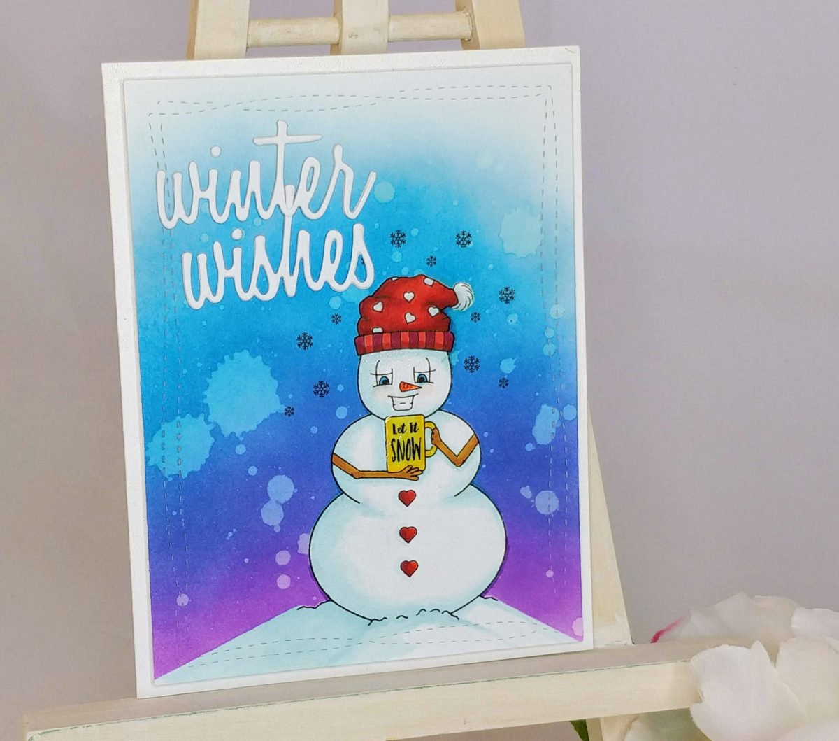 Winter Wishes – Easy Masked Digi-Stamp