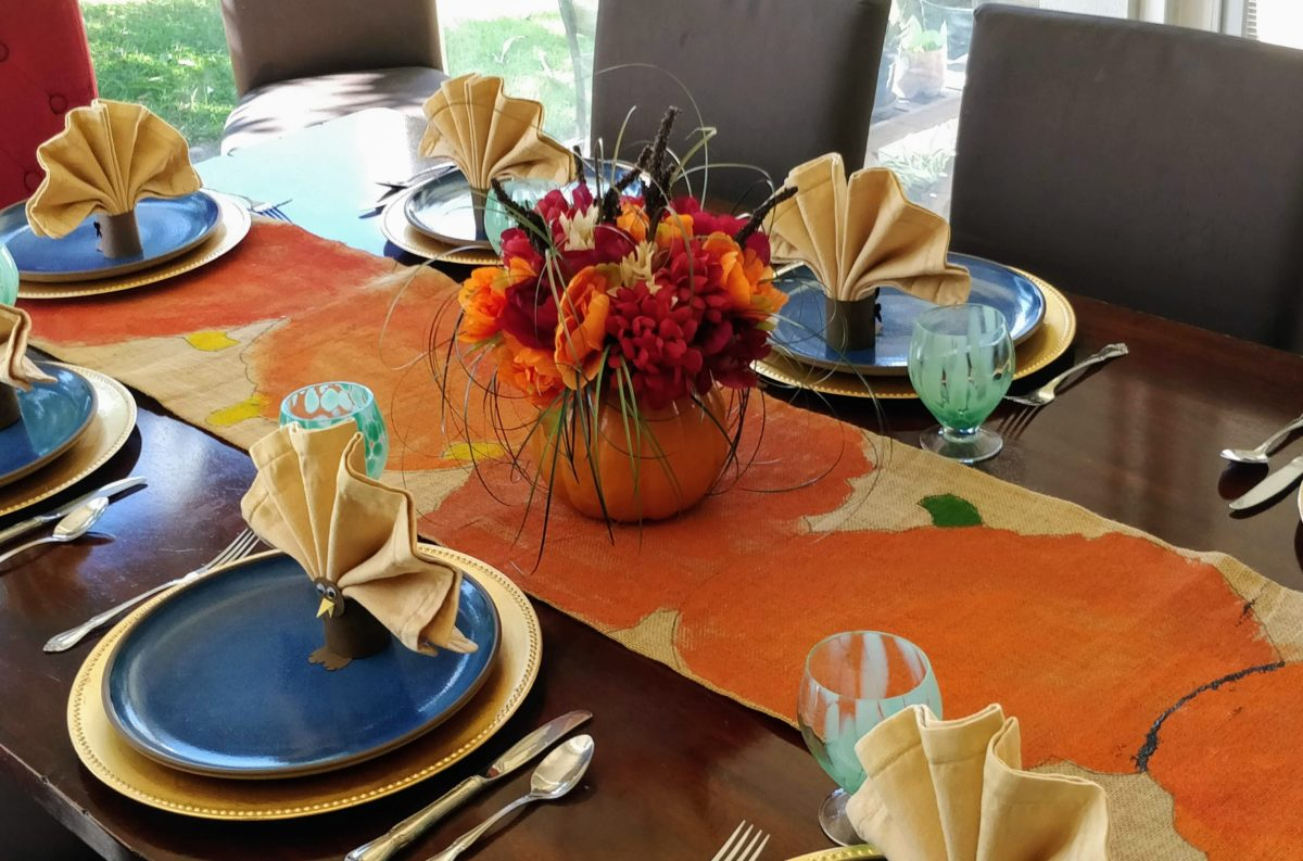 Festive Fall Table Setting