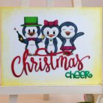 Cheerful Christmas Penguins