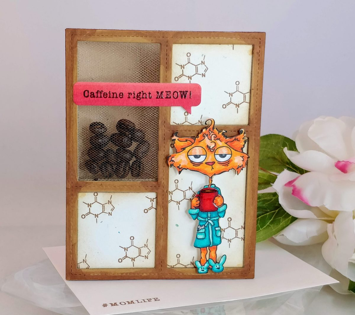Coffee Bean Shaker Card