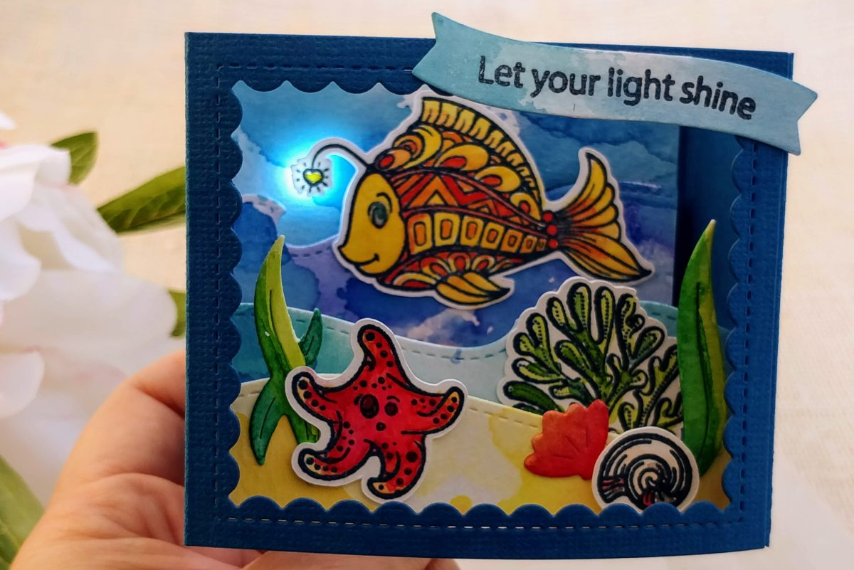 Anglerfish Light Up Box Card