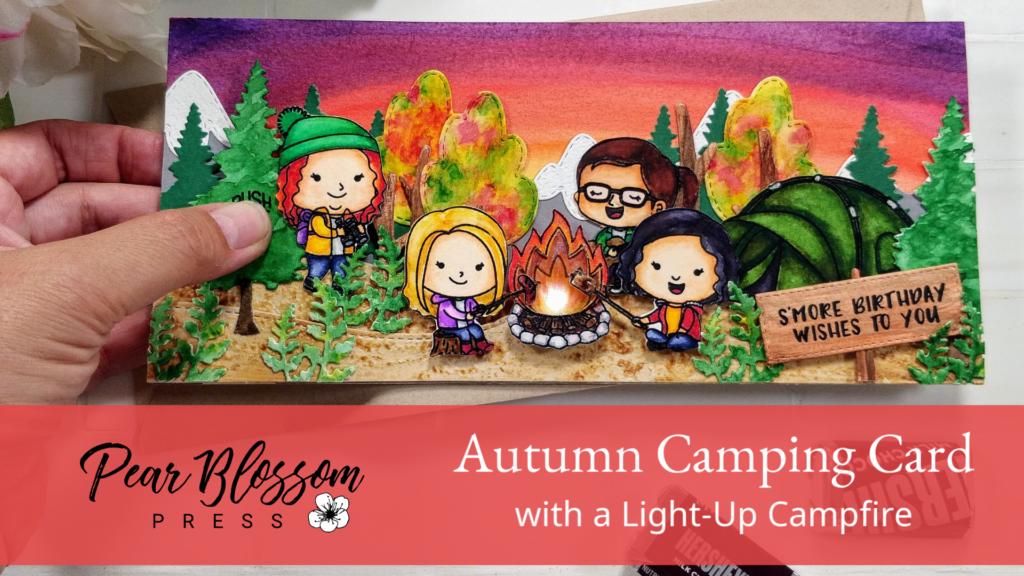 Autumn Camping Light-Up Card