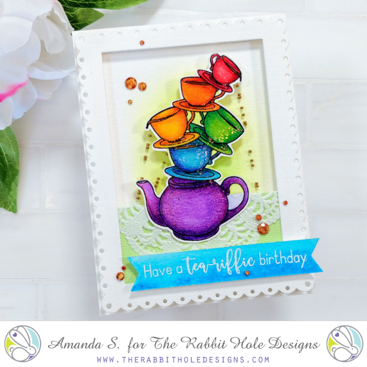 Steeped in Happiness Raindrop Card