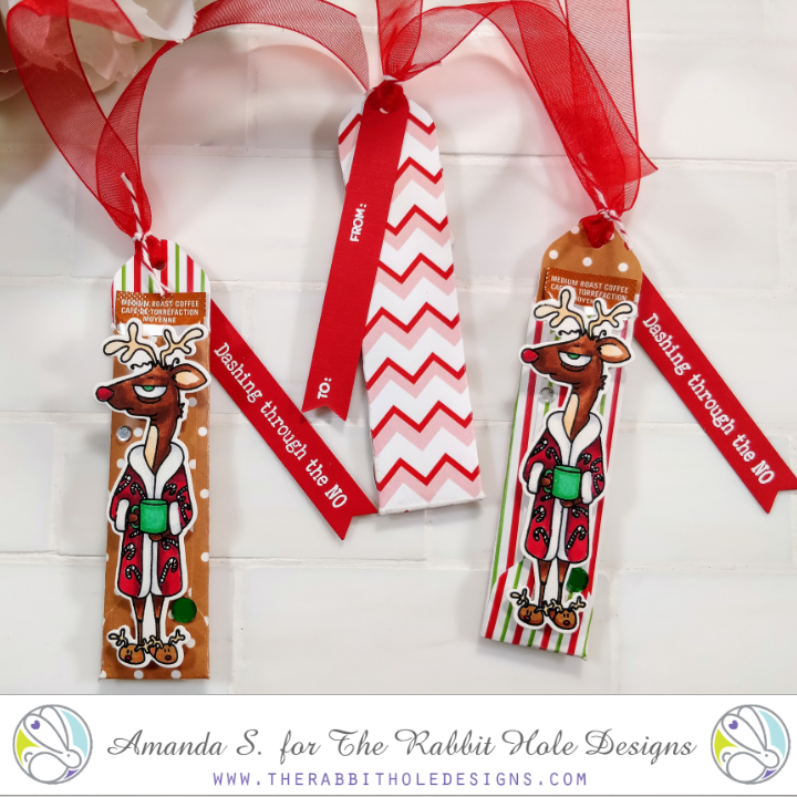 Caffeinated Reindeer Gift Tags
