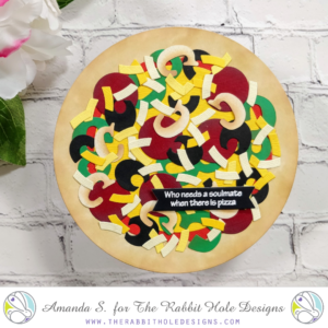 Die Cut Pizza Galentine's Day Easel Card