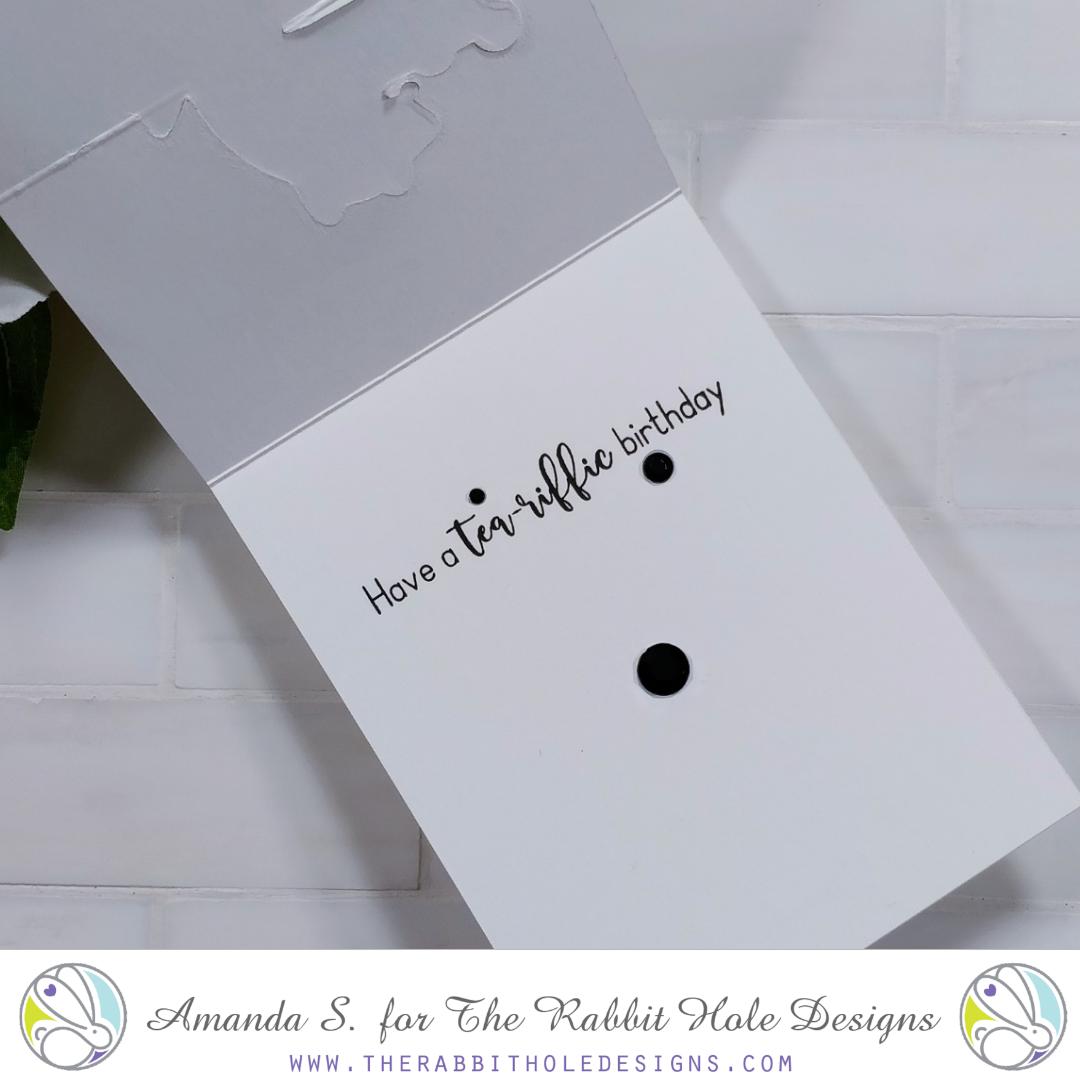 Caffeinated Dragon Easel Card The Rabbit Hole Designs