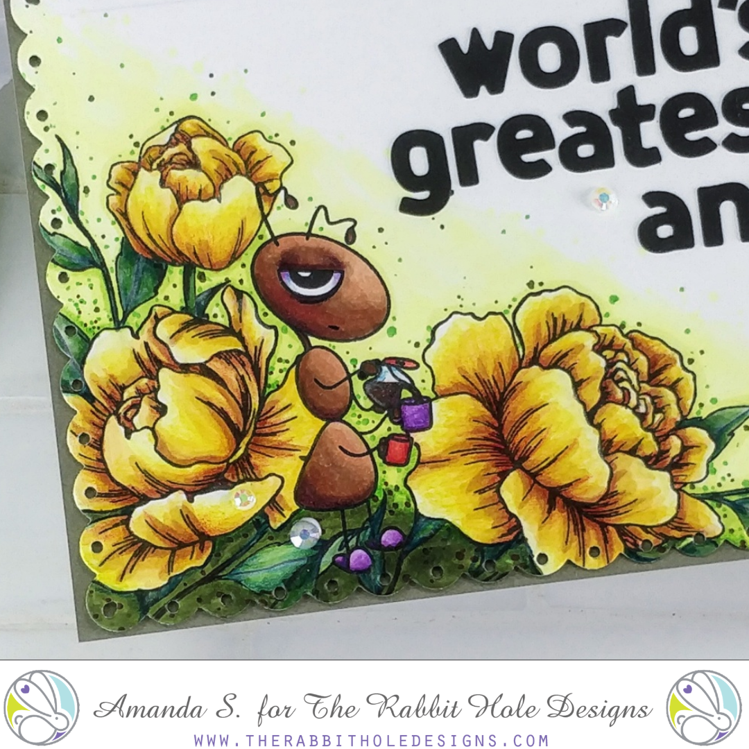 Worlds Greatest ANT The Rabbit Hole Designs Mother's Day Card