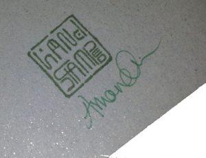 Signed back of card image